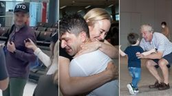 Hughesy's Unlikely Airport Video Shows Peoples' Pure Happiness At Internal Borders