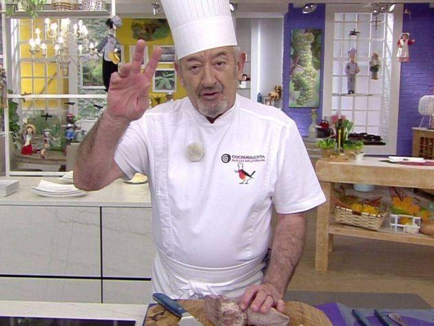 Karlos Arguiñano durante uno de sus programas de