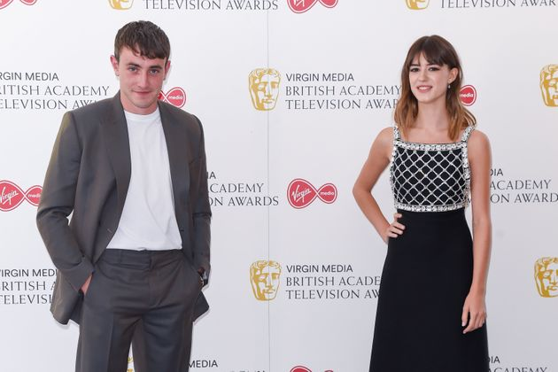 Paul Mescal and Daisy Edgar-Jones keep their distance on the red carpet at the TV