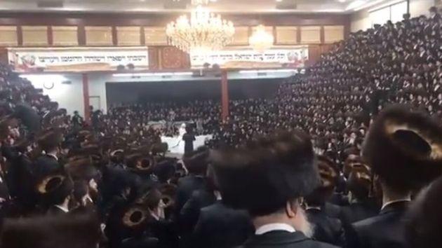 Imagen de la boda judía investigada por las autoridades de Nueva