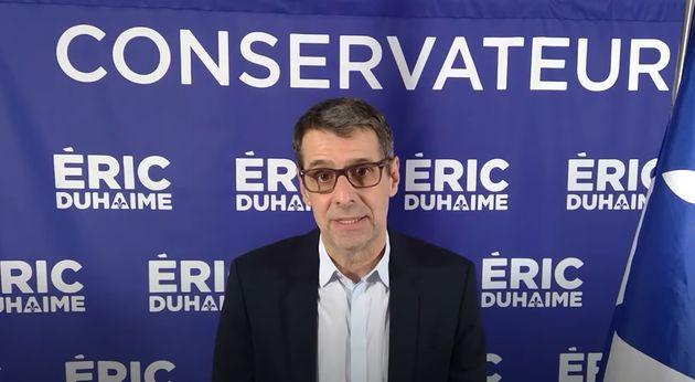Éric Duhaime s'était présenté sous la bannière de l'Action démocratique...
