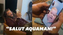 La belle surprise de Jason Momoa à ce jeune fan d'Aquaman atteint d'un