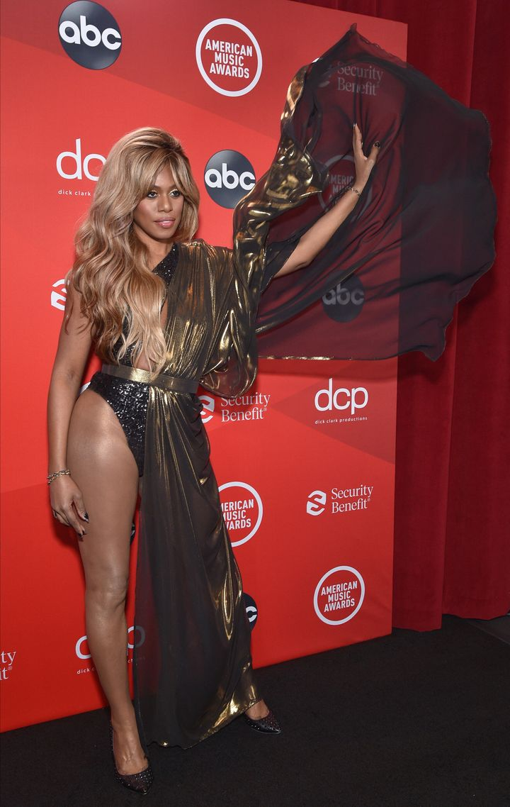 Laverne Cox at the 2020 American Music Awards.