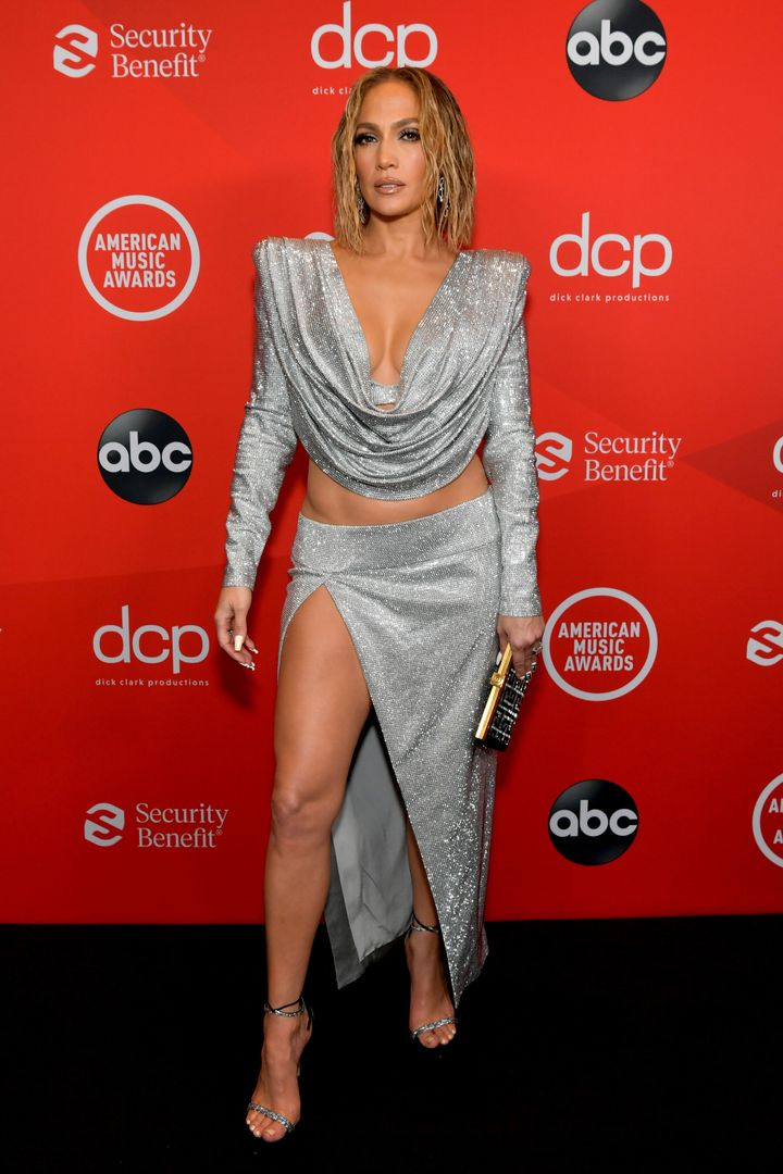 Jennifer Lopez attends the 2020 American Music Awards at the Microsoft Theater on Sunday in Los Angeles.