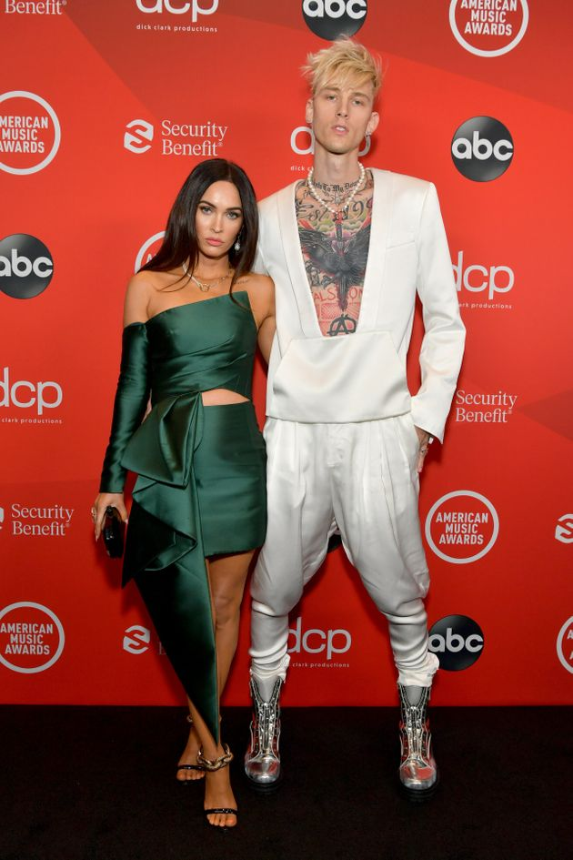 Megan Fox and Machine Gun Kelly attend the 2020 American Music Awards at the Microsoft Theater on Sunday...