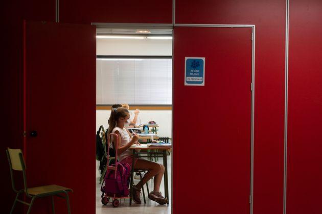 Imagen de un aula en Valencia, el 7 de septiembre de