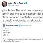Arturo Pérez-Reverte carga contra este tuit de la Policía y se la devuelven dando donde más