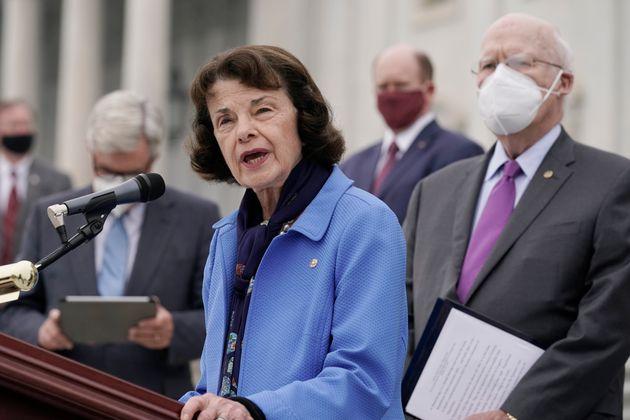 Senate Judiciary Committee ranking member Sen. Dianne Feinstein (D-Calif.) speaks during an Oct. 22,...