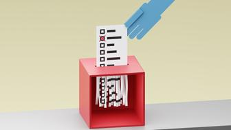 electoral fraud/voter apathy/totalitarism - digitally generated image