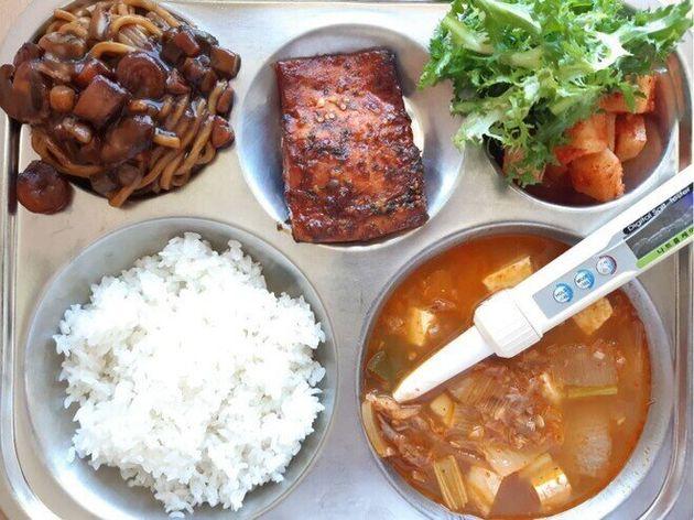 울산광역시 울산여고 23일 점심 채식