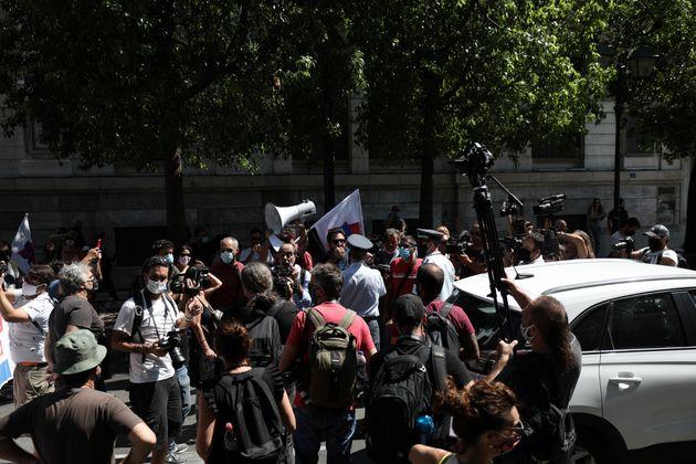 Φωτογραφία αρχείου Προπύλαια Συγκέντρωση διαμαρτυρίας στη Βουλή της ΟΛΜΕ για το άνοιγμα των σχολείων...