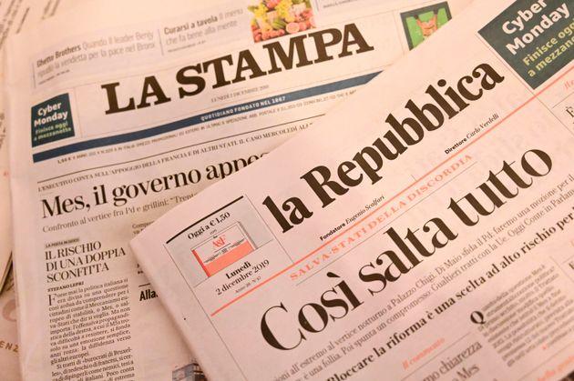 Attacco anarchico alle redazioni di Torino di Repubblica e La