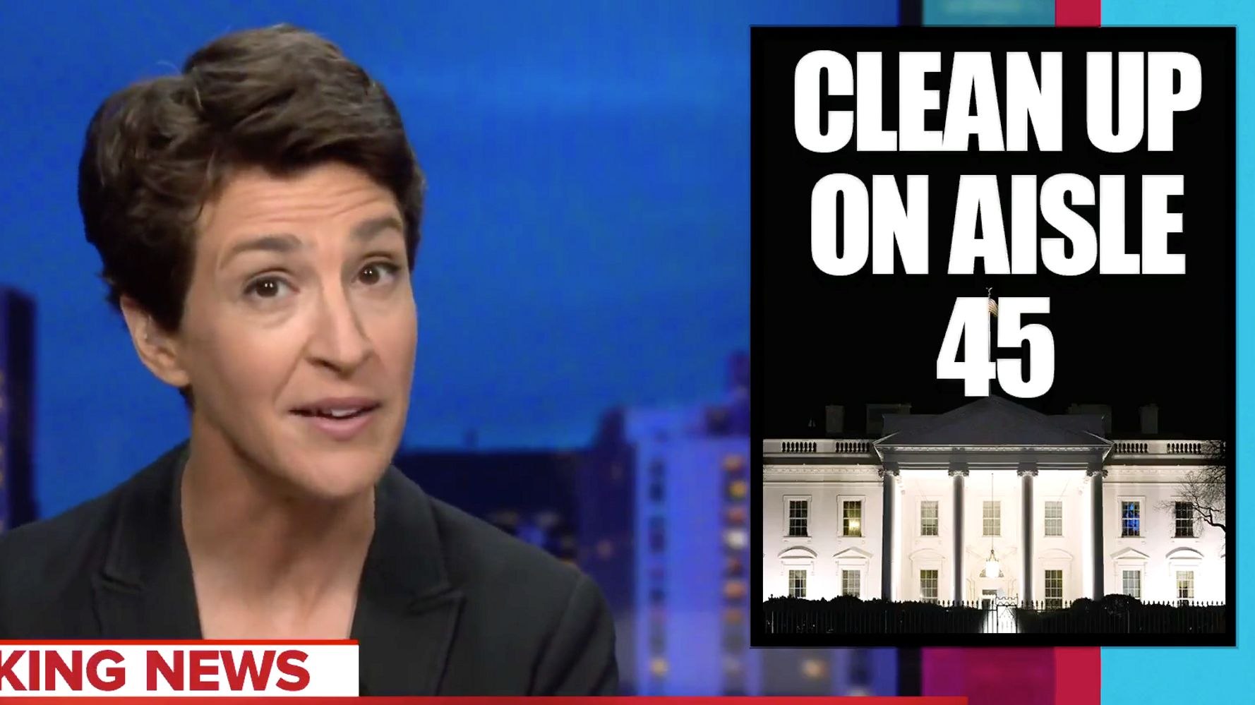 Rachel Maddow Rings The Alarm On How Trump's 'Setting The Place On Fire' As He Leaves