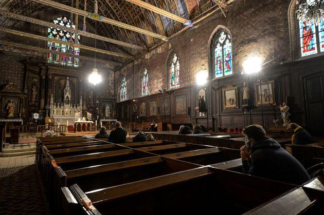 L'église Saint-Jacques de Illiers-Combray, le 15 novembre 2020 (Photo by JEAN-FRANCOIS MONIER/AFP...