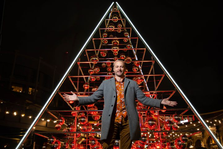 Botanical Boys founder, Darren Henderson unveils his installation named The Terrarium Tree at Coal Drops Yard in King's Cross