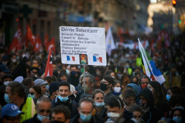 Thousands of protesters took to the streets after the call of NGOs (Amnesty International, Human Rights...