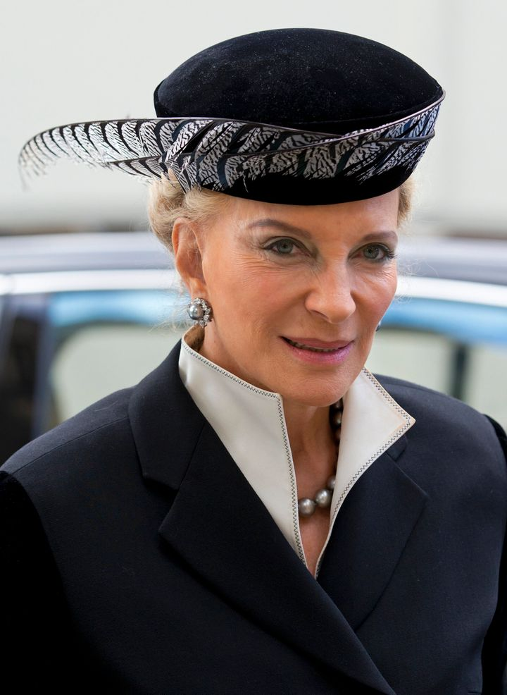 Princess Michael of Kent attends a memorial service for Alistair Vane-Tempest-Stewart, 9th Marquess of Londonderry on October