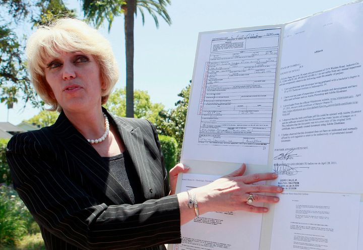 Orly Taitz, shown in this 2011 file photo, told HuffPost that she'd absolutely be willing to join Trump's legal team.