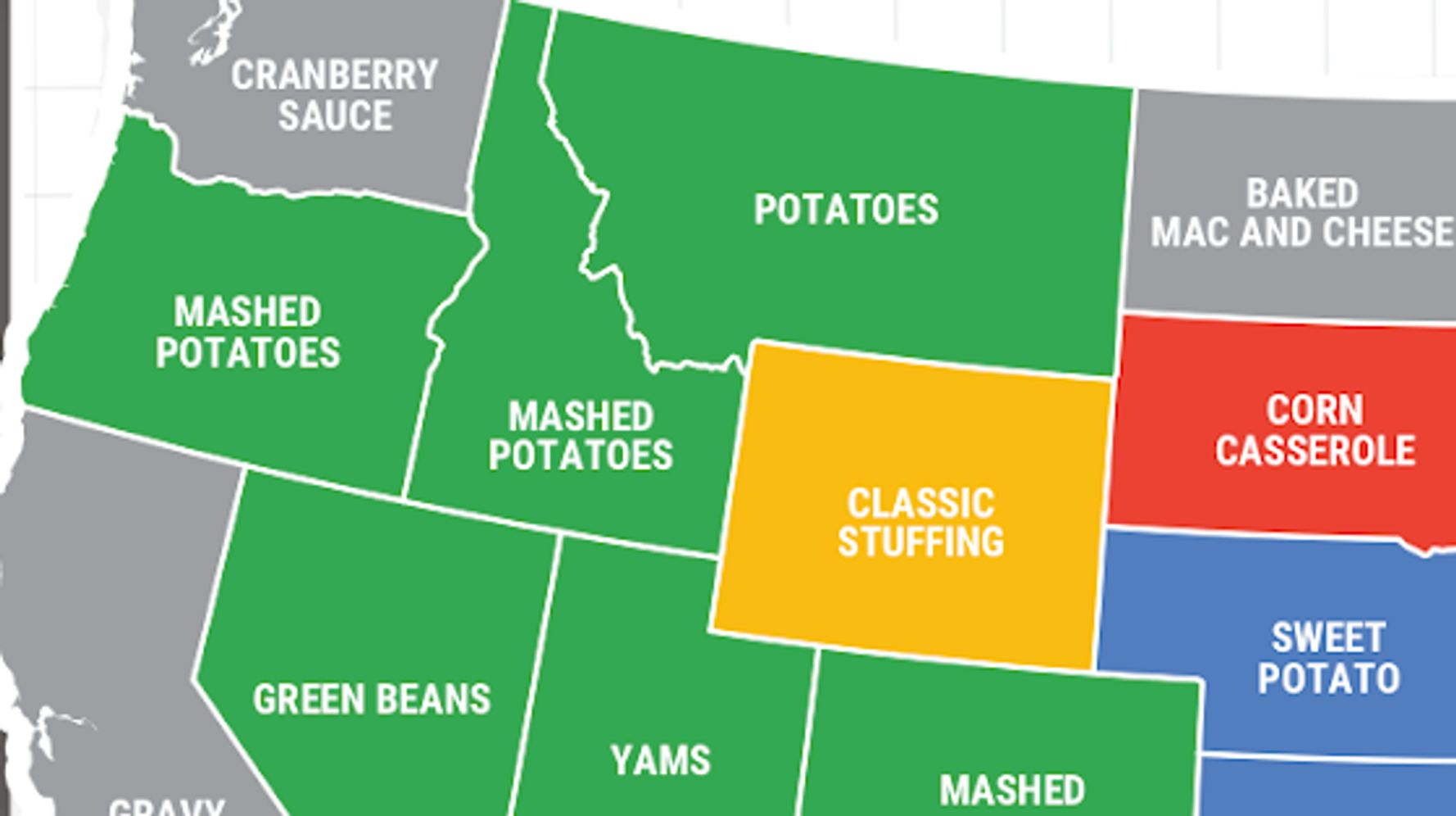 The Most-Searched Thanksgiving Side Dish In Every State
