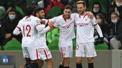 El Sevilla se clasifica para octavos tras ganar al Krasnodar (1-2) con un gol en el