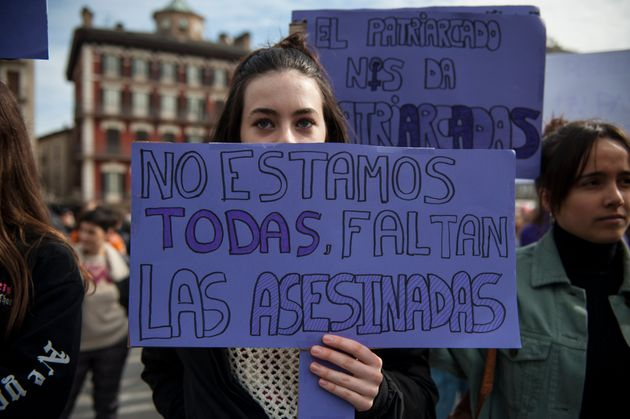 Imagen de archivo de una movilización contra la violencia machista, en Pamplona