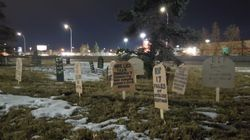 Pop-Up Graveyard Appears Outside Alberta Health Minister's