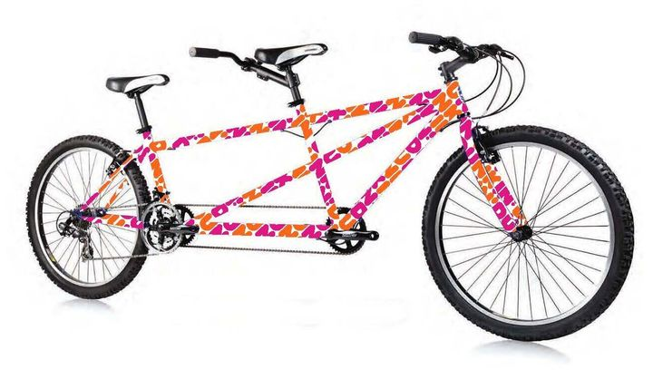 An image of the Dunkin' tandem bike provided by the company.