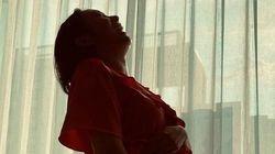 정경미가 집에서 찍은 셀프 만삭 화보는 유쾌하다