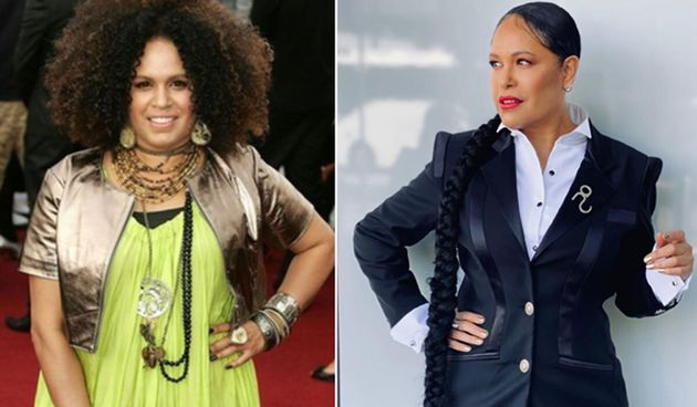 Christine Anu at the ARIA Awards in 2007 (L) and in 2020