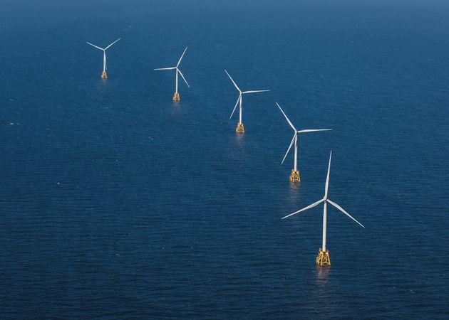 북해 바다 한가운데서 세계 최대 규모의 해상풍력발전단지 '혼시 프로젝트'가 진행