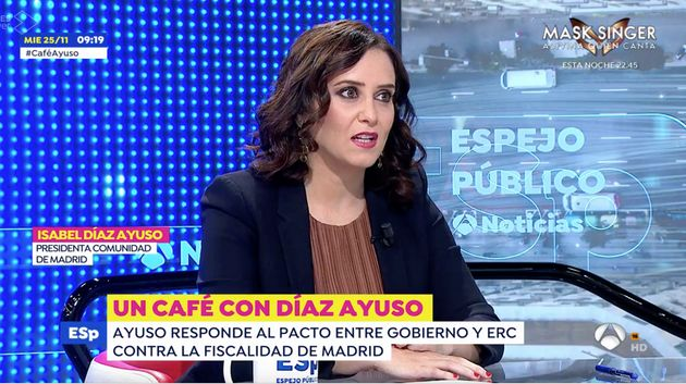 Isabel Díaz Ayuso, este miércoles en 'Espejo