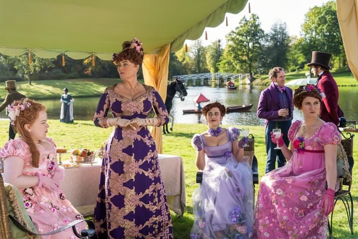 The Bridgerton shoot required 7,500 outfits to be handmade