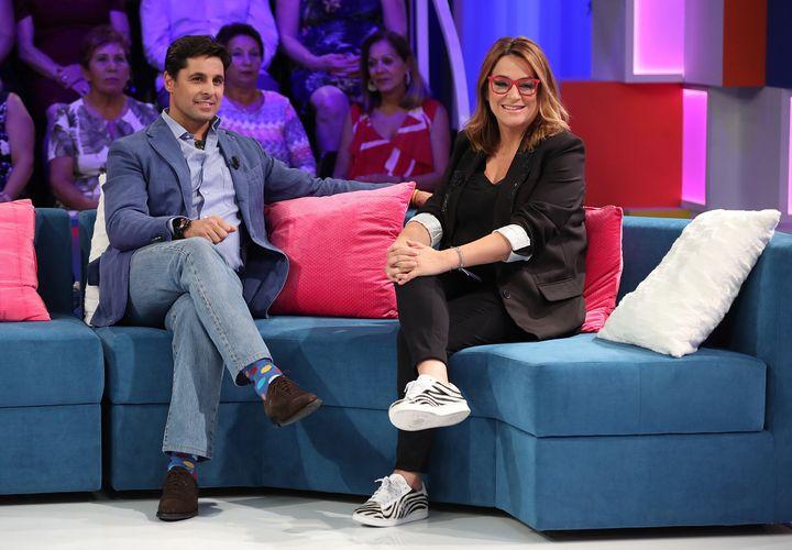 """Con Fran Rivera en el programa """"Aquellos maravillosos años"""", en Telemadrid."""