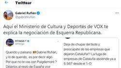 Rufián responde así a los dos famosos que lo han criticado: