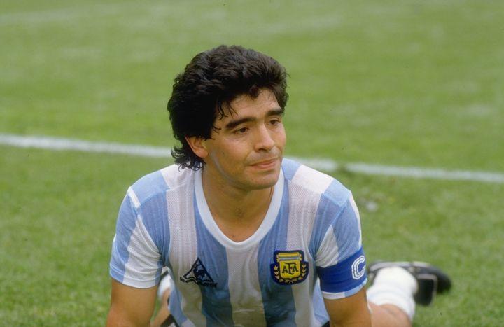 Maradona, el 10 de junio de 1986 con 24 años.