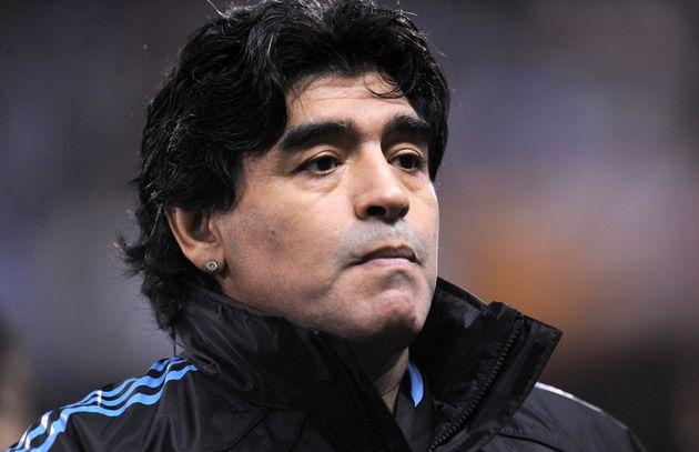 Maradona, en el año
