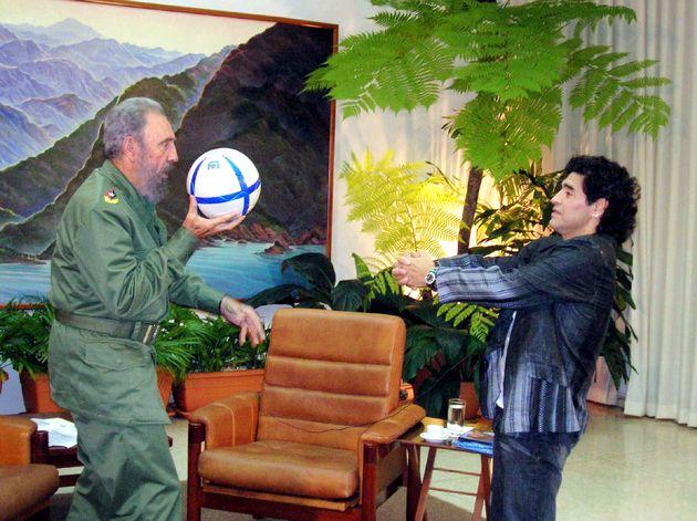 Fidel Castro et Diego Maradona à La Havane en
