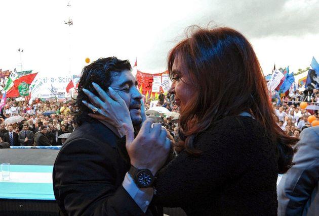 Diego Maradona et Cristina Kirchner, le 2 décembre