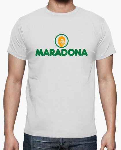 Camiseta Maradona en el logo de Mercadona en La