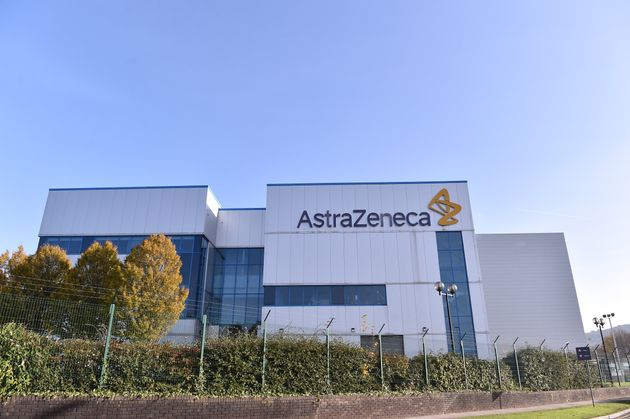 An exterior view outside AstraZeneca Millcourt center as the company targets for delivery of UK Covid...