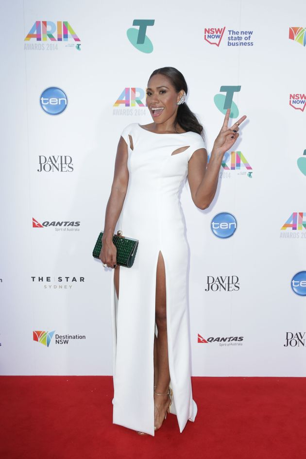 Paulini Curuenavuli, pictured at the 2014 ARIA Awards, is rumoured to already be in the 'I'm A Celeb'