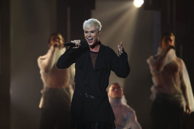 Jack Vidgen performs during Eurovision - Australia Decides at Gold Coast Convention and Exhibition Centre...