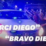 Ambiance de stade de foot pour le convoi funéraire de Diego