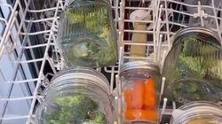 El surrealista pero eficaz método para cocinar verduras en el