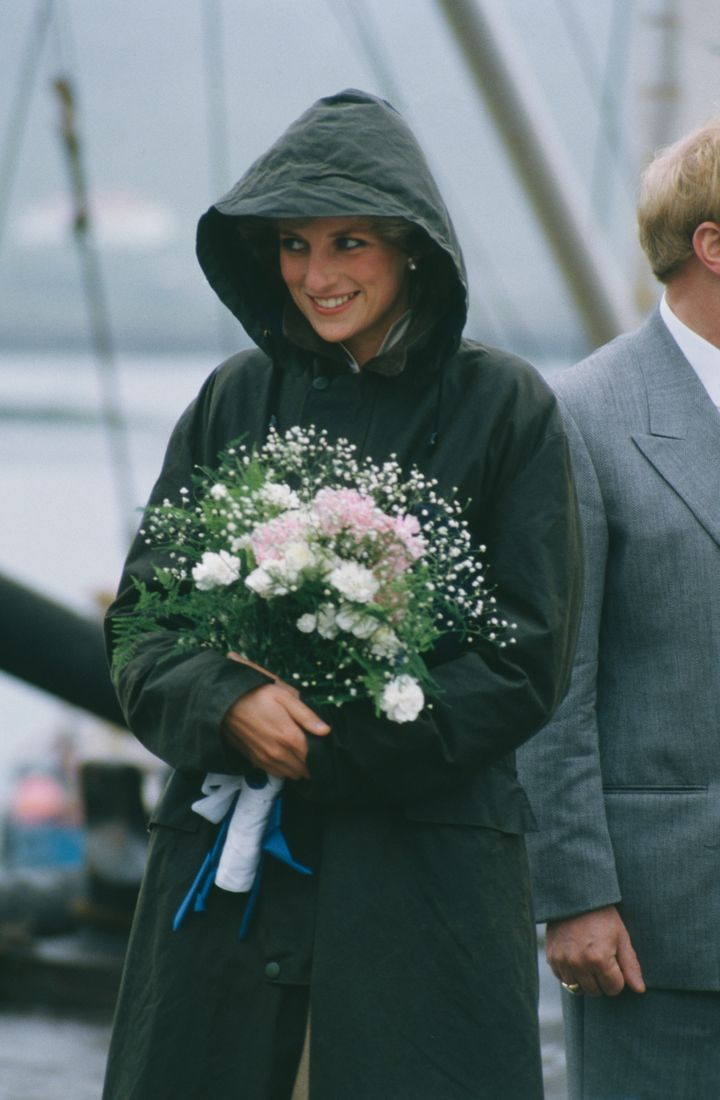 Diana, Princess of Wales  (1961 - 1997) in Ardveenish, in the Western Isles of Scotland, July 1985. She is wearing a Barbour coat.   (Photo by Jayne Fincher/Princess Diana Archive/Getty Images)