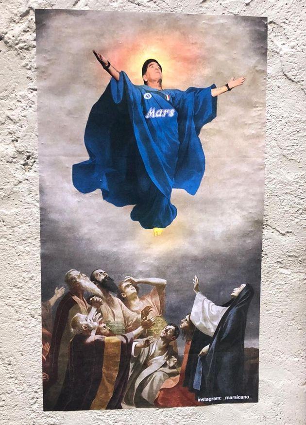 Maradona a Napoli viene santificato come un