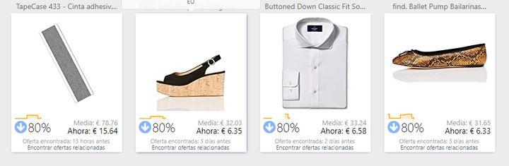 Productos de ofertas en Keepa.