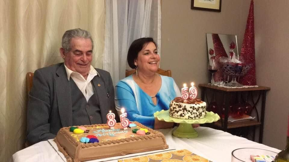 Eddie Calisto-Tavares and her dad Manuel celebrated their birthdays, two days apart, together every