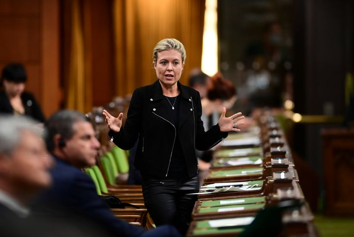 Conservative MP Michelle Rempel Garner asks a question in the House of Commons on Oct. 23, 2020.
