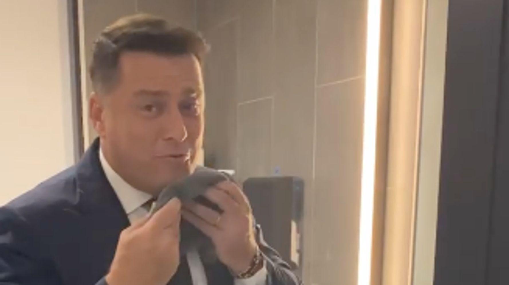 Behind-The-Scenes Video Reveals Karl Stefanovic's 'Weird' Shower Habit